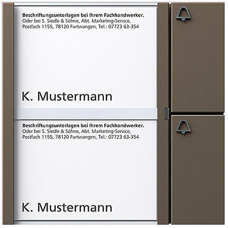 Siedle + Söhne Bus-Tasten-Modul BTM 650-02, BG