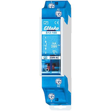 Eltako Stromstoßschalter Reihe. 1S 16A S12-100-8V