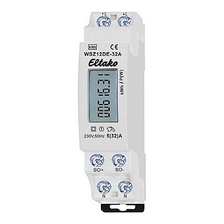 Eltako Wechselstromzähler mit Display WSZ12DE-32A