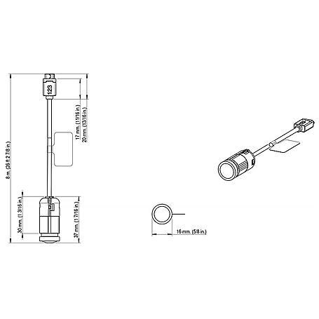 Axis F1004 Sensoreinheit für F-Serie, 8 m