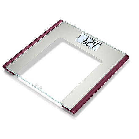 Beurer Glaswaage LCD-Anzeige GS 170 Ruby