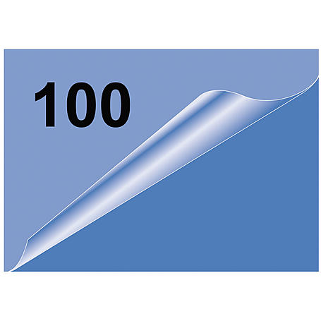 Olympia Laminierfolie Visitenkarte, 100Stk, 80mic