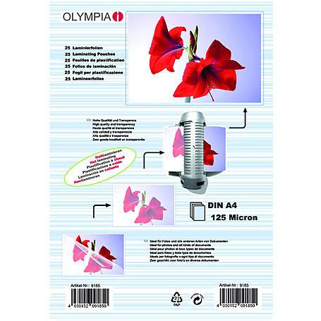 Olympia Laminierfolien DIN A4, 25Stk, 125mic