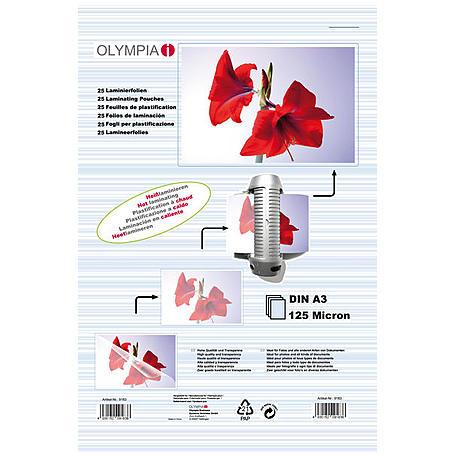 Olympia Laminierfolien DIN A3, 25Stk, 125mic