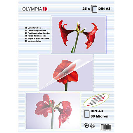 Olympia Laminierfolien DIN A3, 25Stk, 80mic