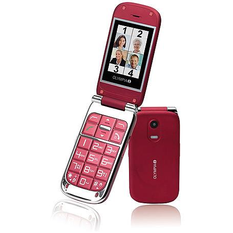 Olympia Großtastentelefon Becco Plus, red
