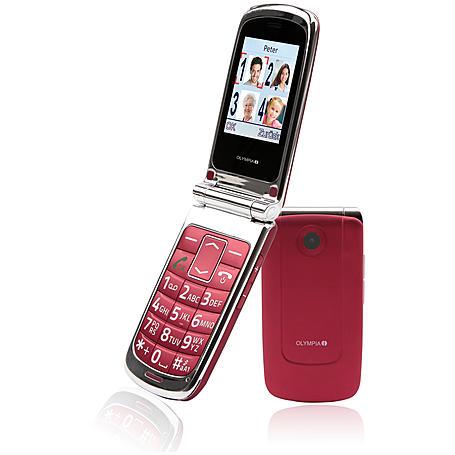 Olympia Großtastentelefon Style, red