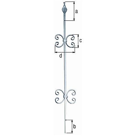 Fenstergitter Zierstab Secofix 2Zierele. vz 1000mm