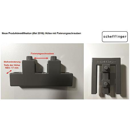 EM3 Riegel quarzgrau zur Fenster-Einbruchsicherung