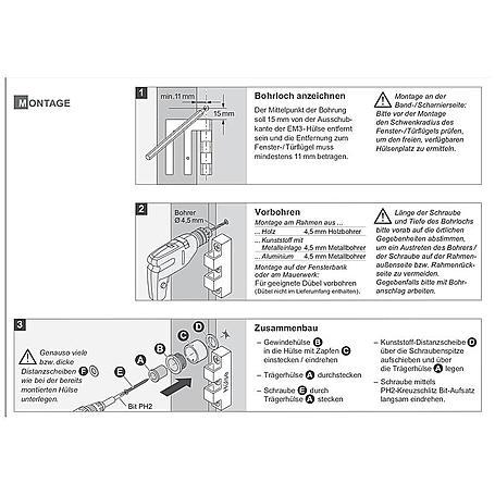 EM3plus Zweihandschloss - Zubehör für EM3 Riegel