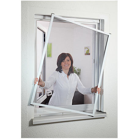 Fensterfliegengitter Master 130 x 150 cm weiß