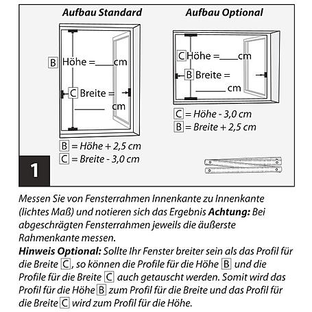 Fliegengitter Master 100x120cm braun Pollenschutz