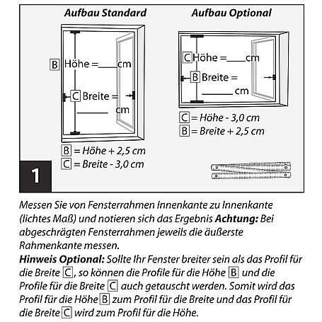 Fliegengitter Master 100x120cm anthra Pollenschutz
