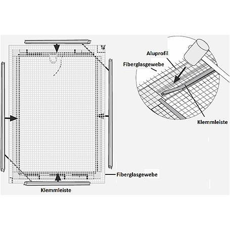 Alu-Fliegengitter Basic 100 x 120 cm weiß