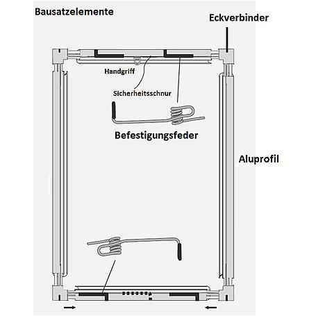 Alu-Fliegengitter Basic 120 x 140 cm anthrazit