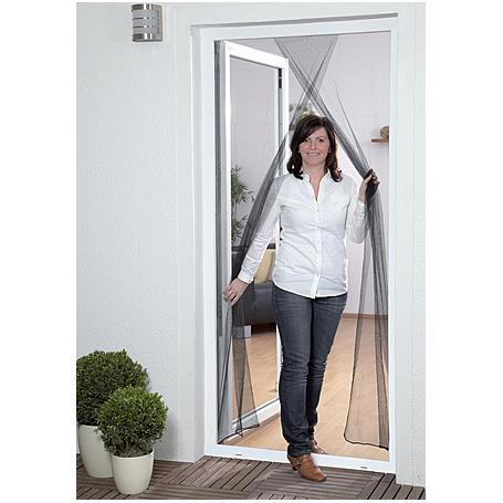 Fliegengitter für Tür 2 x 60 x 210 cm anthrazit