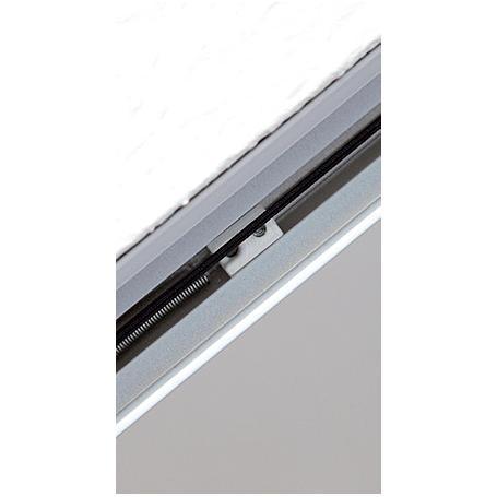 Alu Dachfenster-Plissee 110 x 160 cm braun