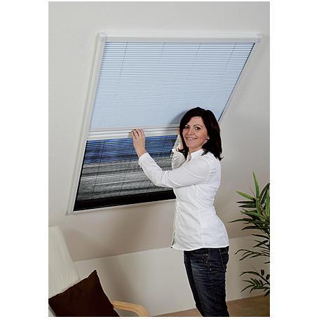 Kombi-Plissee 110 x 160 cm weiß