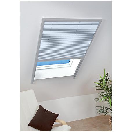 DF Sonnenschutzplissee 110 x 160 cm weiß