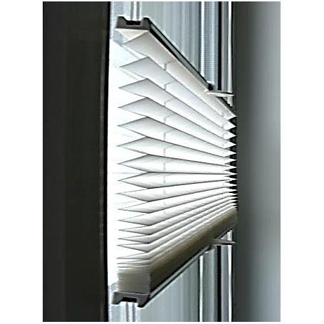 Sonnenschutz-Plissee 80 x 130 cm weiß