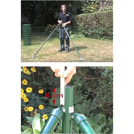 Zauneck-Set, grün, zE, für Zaunhöhe 810mm