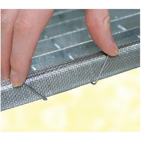 Lichtschachtnetz Aluminium 60 x 120 cm
