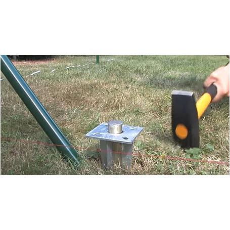 Zauneck-Set, grün, zA, für Zaunhöhe 810mm