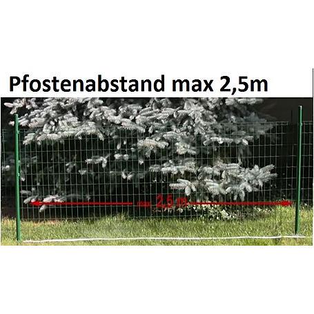 Fix-Clip Pro Zaunpfosten, zE, anth, Ø34mm 2000 mm