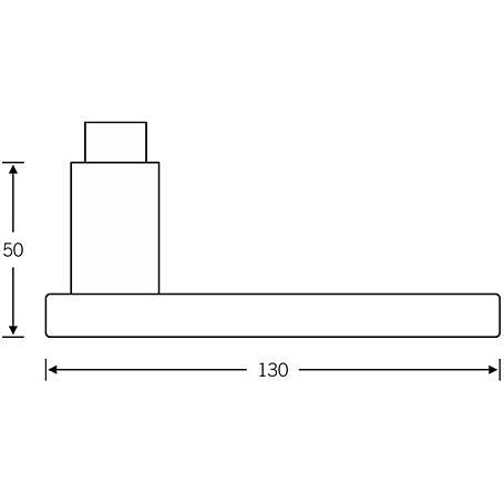FSB Türdrückerpaar 10 1003 Aluminium F1