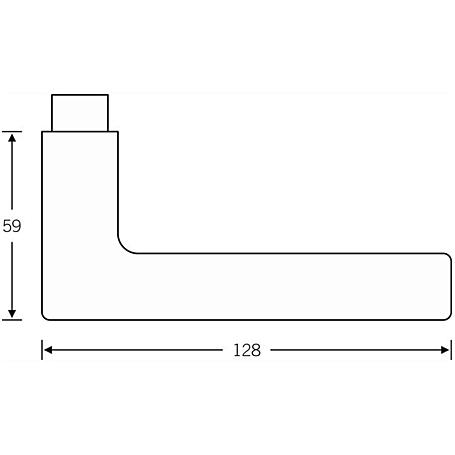 FSB Türdrückerpaar 10 1005 AluminiumF1 Vierk. 10mm