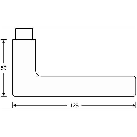 FSB Drückerlochteil 10 1005 Alu F1 Vierk. 10mm