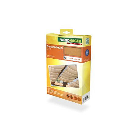 Sonnensegel-Seilspanntechnik sand 2,7 x 1,4 m