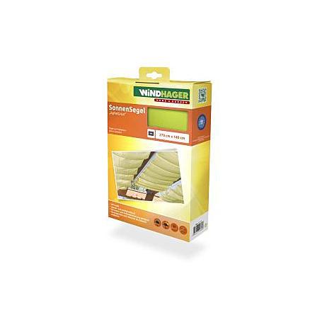 Sonnensegel-Seilspanntechnik apfelgrün 2,7 x 1,4m