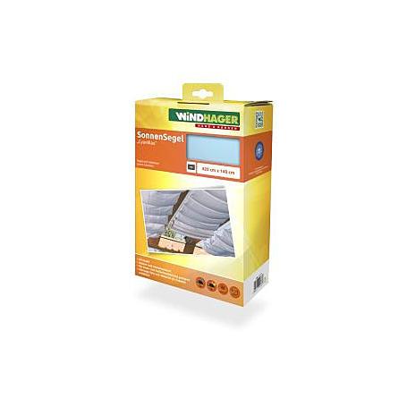 Sonnensegel-Seilspanntechnik cyanblau 4,2 x 1,4m