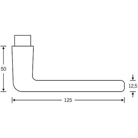 FSB Türdrückerpaar 10 1012 Aluminium F2