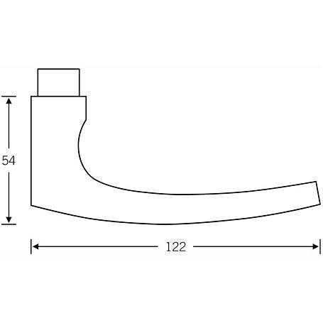 FSB Türdrückerpaar 10 1015 Aluminium F1