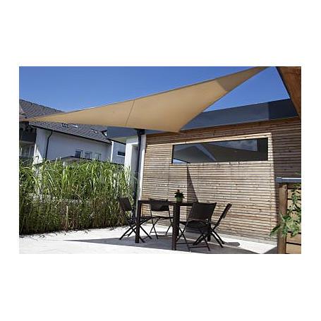 Sonnensegel-Riviera khaki 3,6 x 3,6 m dreieckig
