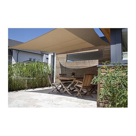 Sonnensegel-Riviera khaki 3,6 x 3,6 m quadratisch