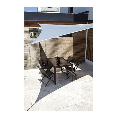 Sonnensegel-Riviera silber 3,6 x 3,6 m dreieckig