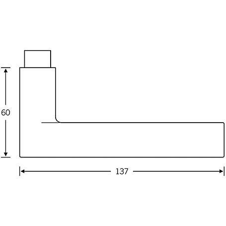 FSB Drückerlochteil 10 1021 Aluminium F1 rechts