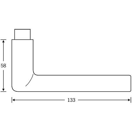 FSB Drückerlochteil 10 1025 Aluminium F1 rechts