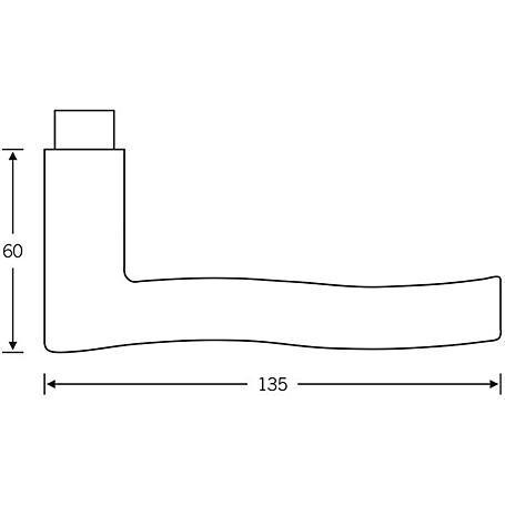 FSB Drückerlochteil 10 1028 Aluminium F1 rechts