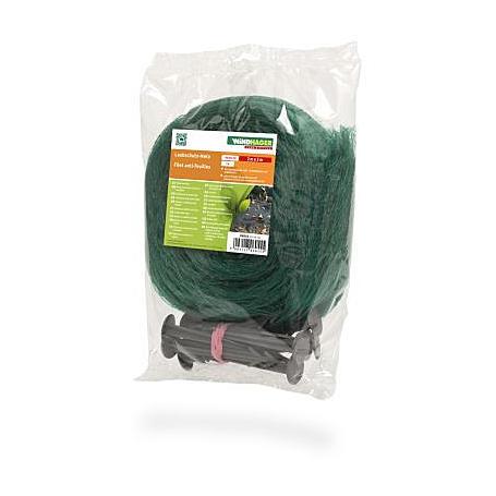 Laubschutz-Netz 3x2m mit 10 Netzhaltern, grün