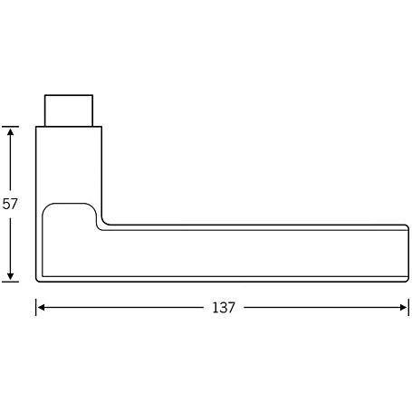 FSB Drückerlochteil 10 1035 Aluminium F1 li/re