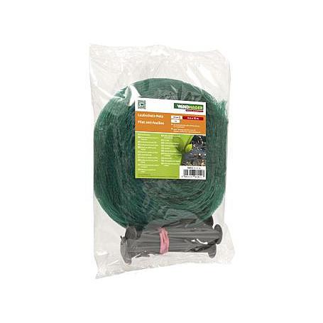 Laubschutz-Netz 10x4m mit 20 Netzhaltern, grün