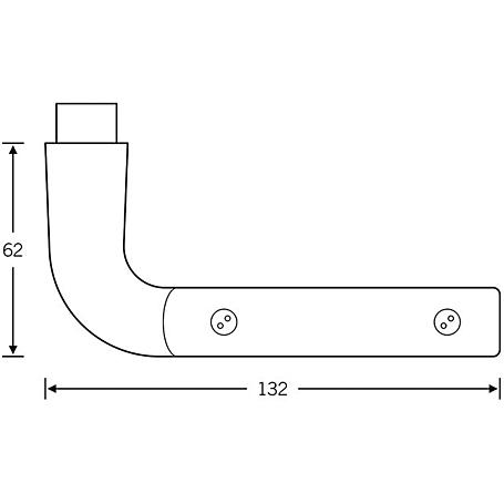 FSB Türdrückerpaar 10 1064 Aluminium F1 schwarz