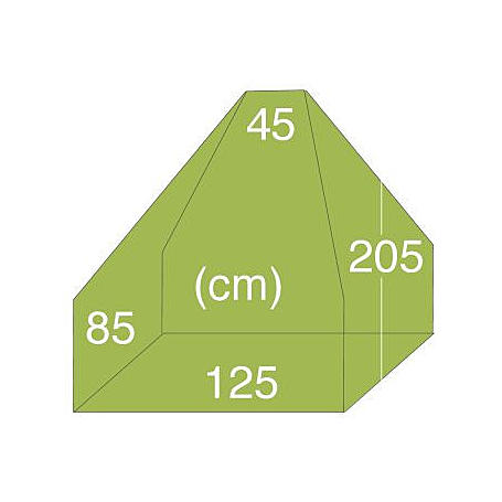 Kamin-Abdeckhaube 1,25x0,85x2,05m, 145g/m²