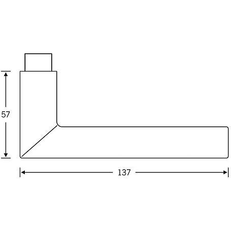 FSB Türdrückerpaar 10 1076 Aluminium F1