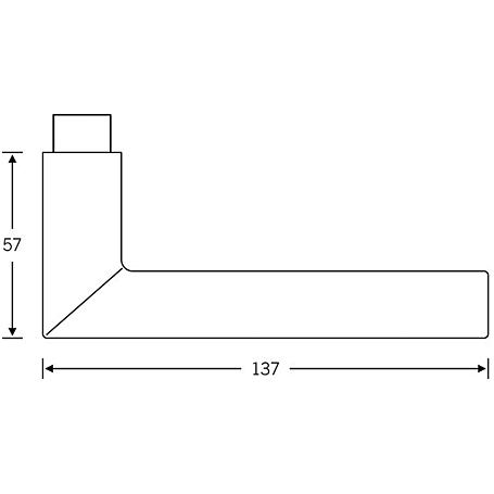 FSB Drückerlochteil 10 1076 Aluminium F1