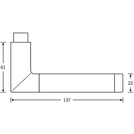 FSB Drückerlochteil 10 1077 Aluminium F1 schwarz